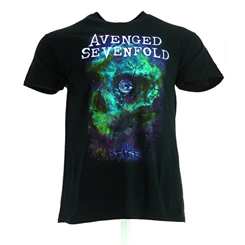 Avenged Sevenfold Space Face Nero Maglietta Ufficiale Autorizzato Musica