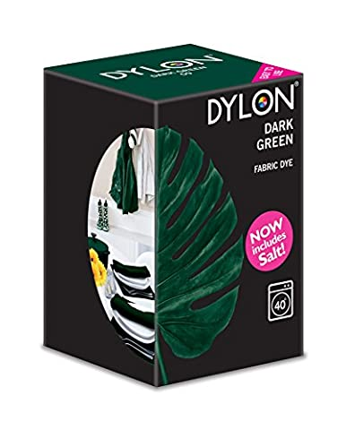 Dylon Machine Colorant 350g Vert Foncé, Sel Inclus!