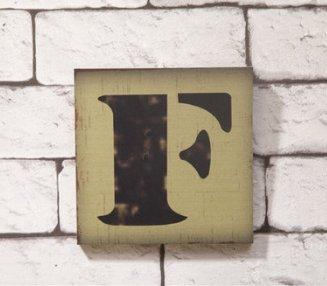 Vintage Decoración Retro estilo grabado creativo letras madera panel