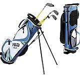 HJJGRASS Golfbag Golftasche Cart Tragegurt Mit Stehbügel Und Riemenscheibe Reise Flug Taschen wasserdichte Doppelband Golf Club Organizer Höhe 100 / 109Cm