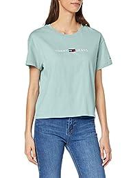 Tommy Jeans Damen Tjw Clean Linear Logo Tee T-Shirt