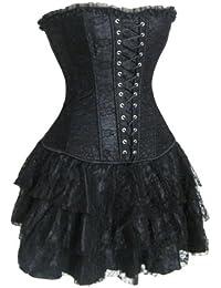 Corsage Kleid Mini Rock Petticoat