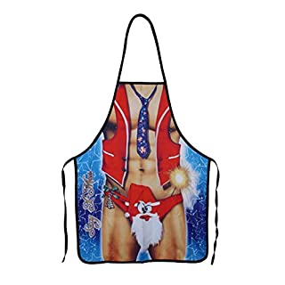 AFUT Christmas Novelty Cooking Kitchen Apron Costumes Party Prop Christmas Santa Decoration for Home Cooking Coffee Shop Restaurant BBQ Sexy Lady Style