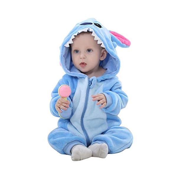 Runuo Bebé recién Nacido con Capucha Mameluco para niños pequeños Mono Infantil Trajes de Invierno Pijamas 1