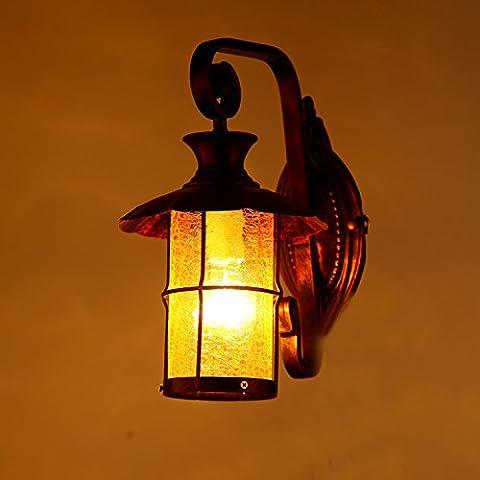 Seppia ferro Mediterraneo outdoor living room luci a parete le luci della barra luminosa luci luci corsia teahouse hyun spegnere le luci luci da parete