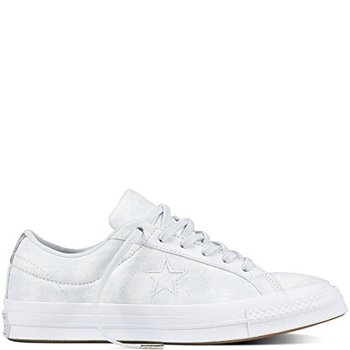 Converse Damen Cons One Star Peached Wash OX Sneaker, Grau Hellgrau, 38 EU