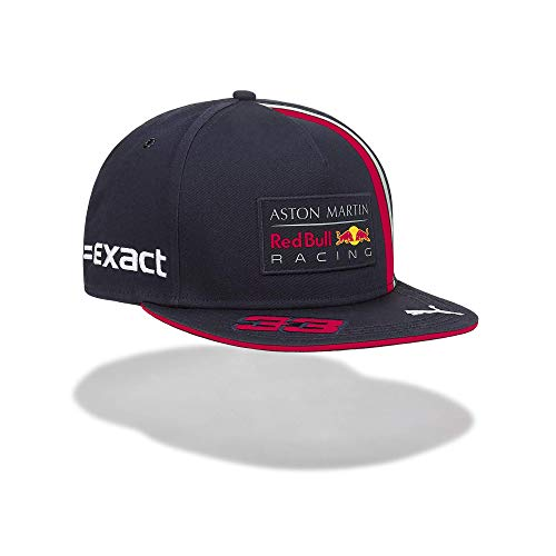 Red Bull Racing Max Verstappen Driver Flat Cap, Blau Youth One Size Flat Cap, Racing Aston Martin Formula 1 Team Original Bekleidung & Merchandise
