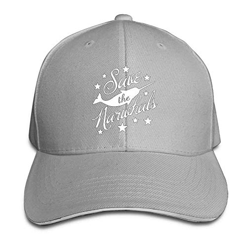 KAKICSA Funny Hat Cap Women's/Men's Save The Narwhals Adult Adjustable