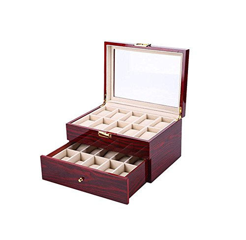 HLH-CTRL Watch Box High-End Ausrüstung Holz Box Gold Lock Watch Aufbewahrungsbox Ausrüstung, Aufbewahrungsboxen