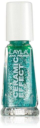 Layla Cosmetics 1243R23-079 Ceramic Effect Nagellack - lucky glitter, 1er pack (1 x 0.01 l) -