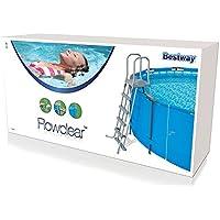 Bestway 58160 - Escalera para piscinas de 132 cm, con plataforma