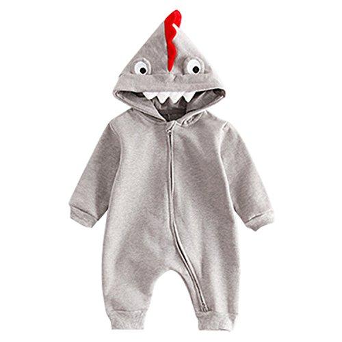 Bebone Baby Halloween Kostüm Jungen Mädchen Overall (9 Monate, Grau)