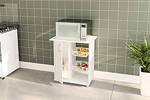 Politorno Kitchen Storage Made of MDF Wood, White