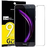 NEW'C Lot de 3, Verre Trempé pour Huawei Honor 8, Film Protection écran - Anti Rayures - sans Bulles d'air -Ultra Résistant (0,33mm HD Ultra Transparent) Dureté 9H Glass