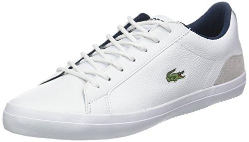 Lacoste Herren Lerond 318 3 Cam Sneaker, Weiß (WHT/Nvy 042), 46 EU