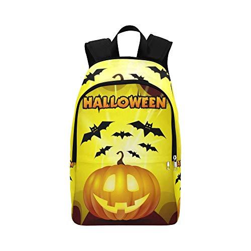 rbisschläger-gelber Hintergrund-zufällige Daypack-Reisetasche College School-Rucksack für Männer und Frauen ()