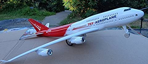 Boeing Jumbo Jet 763 Airplane Model Replica Friction Powered with Sound Big Size 14
