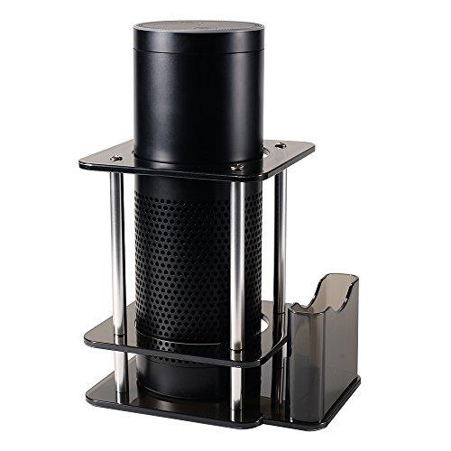 LEFFE ABS Lautsprecher Ständer für Amazon Echo Lautsprecher mit Aufbewahrungsbox Schutz Lautsprecher (schwarz)