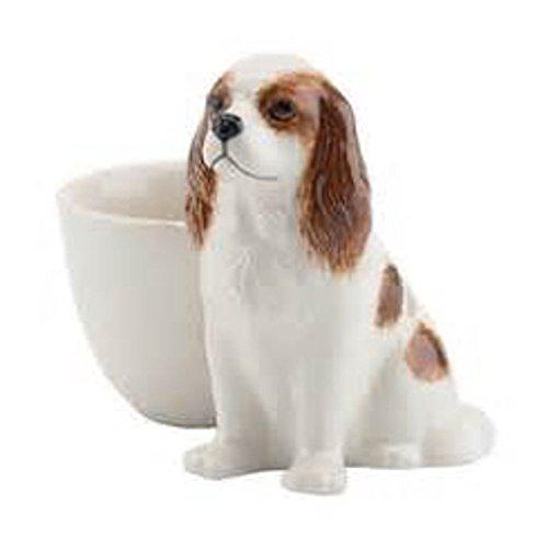 Quail Ceramics - Blenheim Cavalier King Charles Spaniel Figure Egg Cup by Quail -