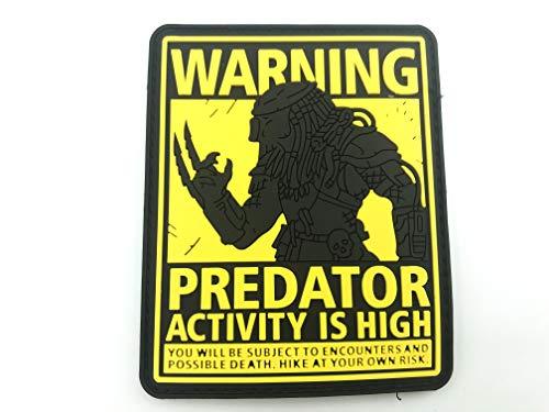 Predator Activity is High PVC Airsoft Paintball Klettverschluss-Flecken Kader Patch