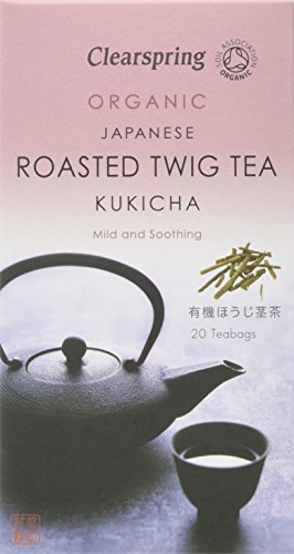Clearspring Kukicha/Roasted Twig Tea Bags (Pack of 6, Total 120 Teabags)