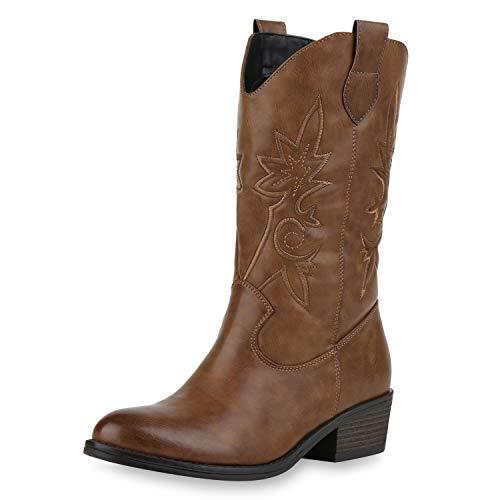 SCARPE VITA Damen Cowboystiefel - Cowboystiefel Damen