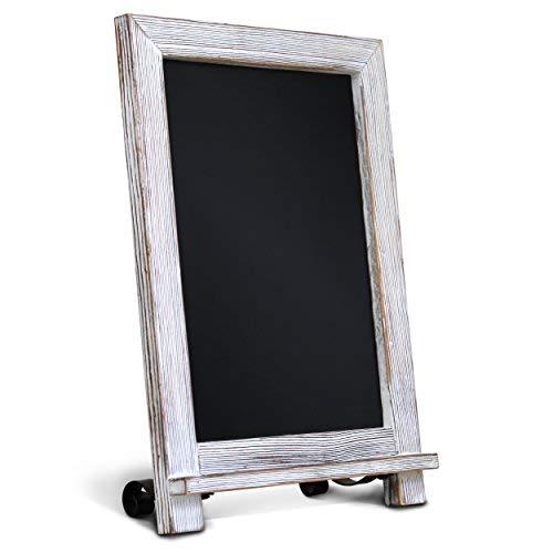HBCY Creations Rustikal Bleichte Tabletop Tafel Zeichen/hängendes magnetisches Wand Tafel/Kleine Aufsatz- Tafel Staffelei/KücheCountertop Memo Board / 9.5