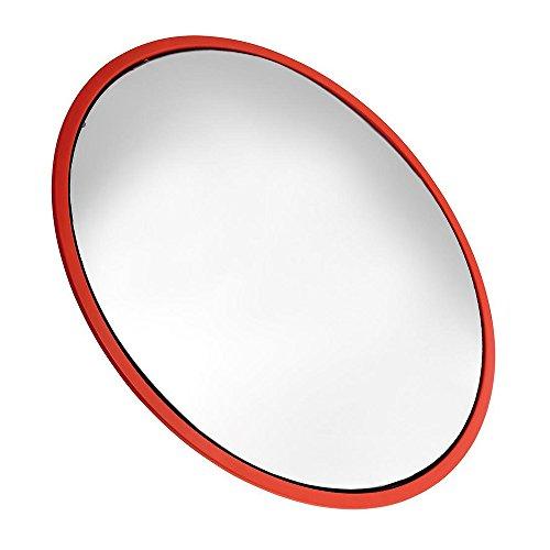 WOLFPACK 15050450-Interno Specchio Convesso, 45cm, Colore: Rosso