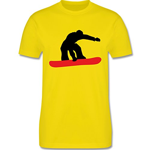 Wintersport - Snowboard Board - Herren Premium T-Shirt Lemon Gelb