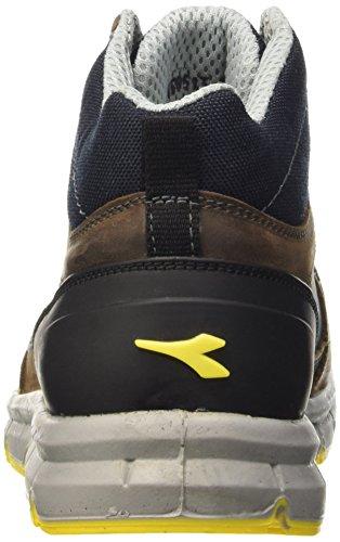 Diadora Run High S3, Chaussures Mixte Adulte Marron (Marrone Scuro/blu Maiolica)