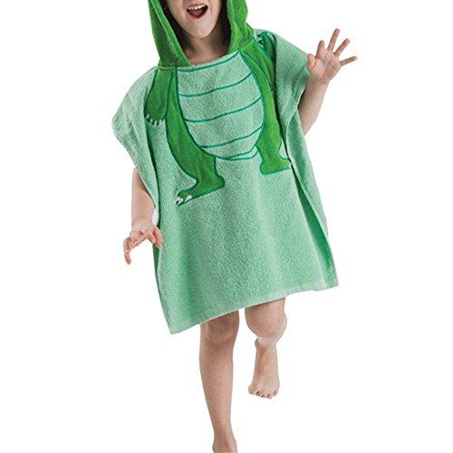 BOZEVON Baby Bademantel mit Kapuze,Säuglings Kapuzenbademantel Poncho Baumwolle Strand Pool Nette Handtuch Für Jungen und Mädchen