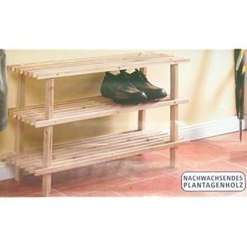 schuhschrank holz schuhregal schuhschrank mit 3 t ren aus walnuss holz. Black Bedroom Furniture Sets. Home Design Ideas