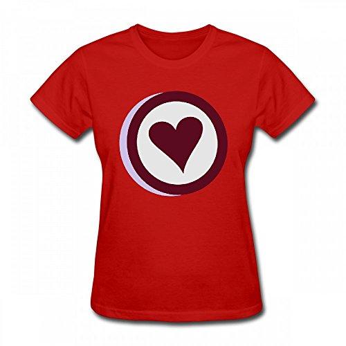qingdaodeyangguo T Shirt For Women - Design 3D Heart Shirt red