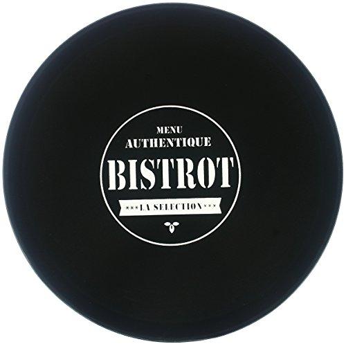 Promobo - Plateau De Présentation Antidérapant Collection Bistrot Présentoir Pro Service Cocktail Dessert Fromage Noir