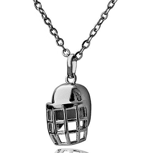 wdoit American Football Helm Anhänger Halskette NFL Sport 3D Rugby Charm Schwarz vergoldet Kette Sport Fan Damen Collier schwarz