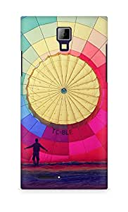 Amez designer printed 3d premium high quality back case cover for Micromax Canvas Express A99 (Hot Air Balloon Rainbow Nature)