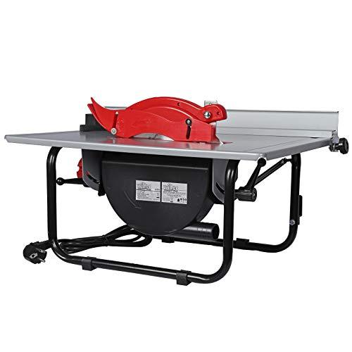 WilTec Scie à Table Circulaire Scie Circulaire 800 Watt 0-45° inclinable 2950 TR/Min