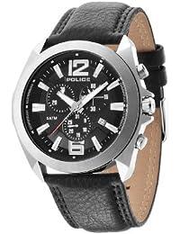 Police.  14104JS/02 - Reloj de cuarzo para hombre, con correa de cuero, color negro