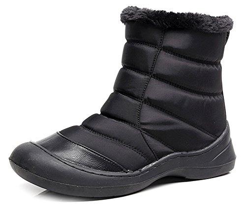 Noir Petit Femme Aisun Bottines Simple Low Talon Boots dqZr0qxI