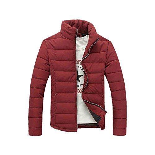 Haodasi Homme Épais Svelte Sous-Vêtement Chaud Windproof Coton Coat Outwear red