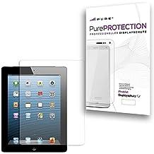 Pure² - Protector de pantalla para Apple iPad 2, 3, 4 y pantalla Retina (4 unidades, resistente a arañazos, transparente e invisible)