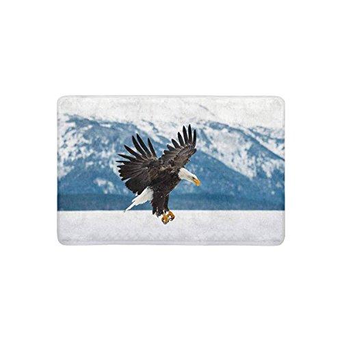 chenbiaoku Fliegende Weißkopfseeadler über Berge Winter Alaska USA Spezielle Fußmatte Indoor Outdoor Eingang Teppich Fußmatten Fußmatte rutschfeste Wohnkultur, Gummi Rücken 23,6 x 15,7 Zoll -