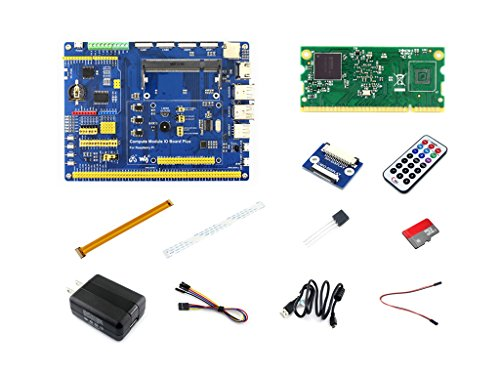 Waveshare-Raspberry pi Compute Module 3 Lite Development Kit Type A with Compute Module 3 IO Board,DS18B20,Micro SD Card and IR Remote Controller