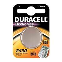 Duracell DL2430/CR2430 Düğme Pil Tekli 3 Volt Lityum, Tekli, 3 Volt, Bakır/Siyah