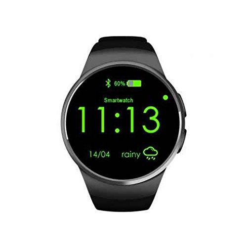 2017Neue Version Smart Gesundheit Armbanduhr, wasserdicht Smart Watch Telefon, 3,3cm Full View rund-, Unterstützung für Bluetooth 4.0, Fitness Activity Tracker Herzfrequenz Monitor, unterstützt bis zu 16GB TF Speicherkarte, Antiverlust für iPhone Android Smartphone (Tool Invicta-band)