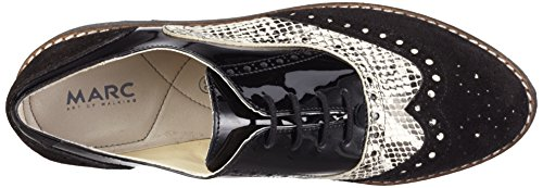 Marc Shoes Damen Katy Derby Schwarz (black-combi 00122)