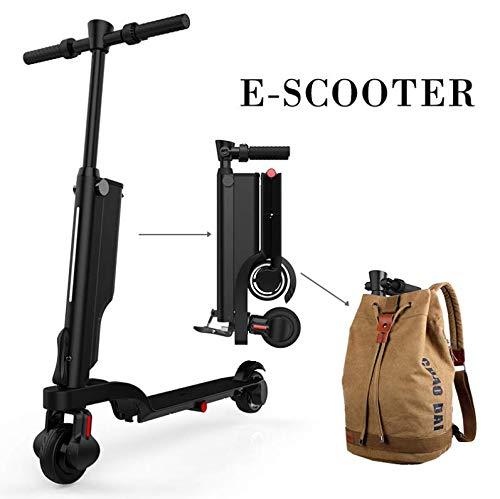 Scooter Eléctrico City Scooter Plegable para Adultos con Luz LED MAX 25 Km/H, DC 25.2V / 4400Mah Batería E-Scooter