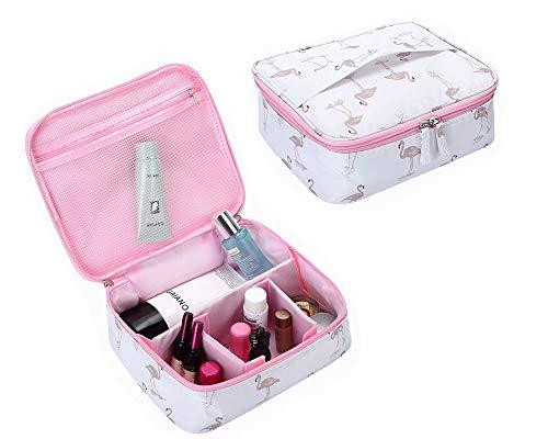 Frauen Kosmetiktäschchen Tragbare Kosmetische Aufbewahrungskoffer Reise Schminktasche Kosmetikbeutel Make Up Etui Wasserdicht Waschbeutel für Damen Mädchen,C