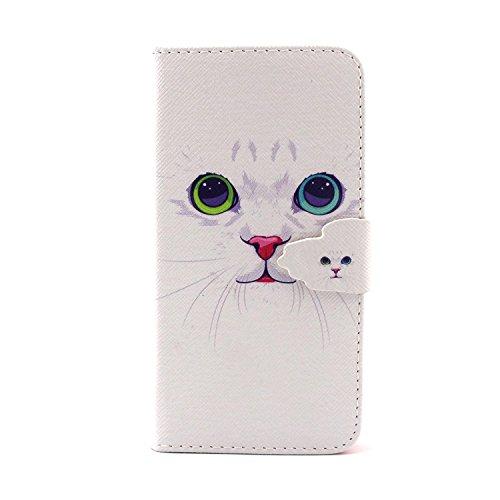 MOONCASE iPhone 6S Plus Coque Portefeuille [Porte-cartes] Modèle Case Housse en Cuir Etui à rabat avec Béquille pour iPhone 6 / 6S Plus (5.5 inch) -YX10 YX04