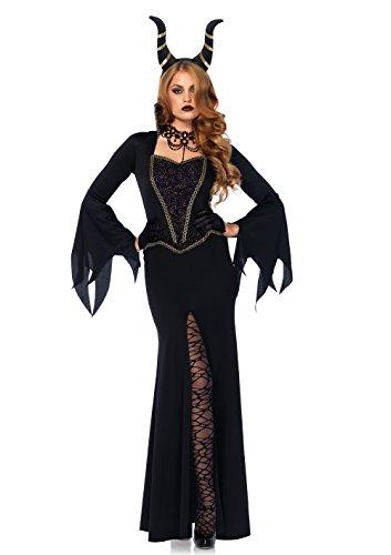 Leg Avenue 85535 - Kostüm Set Böse Zauberin, Damen Fasching, M, schwarz (Böse Königin Kostüme)